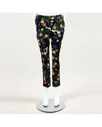 Erdem - Floral Print Slim Ankle Pants - Lyst