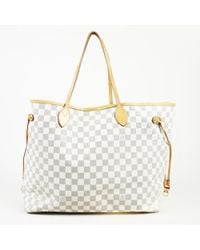 "Louis Vuitton - Damier Azur Coated Canvas ""neverfull Gm"" Tote - Lyst"