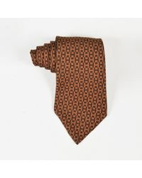 Hermès - Mens Brown 'h' Printed Tie - Lyst