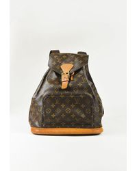 """Louis Vuitton - Brown Monogram Coated Canvas """"montsouris Gm"""" Backpack - Lyst"""