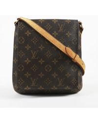 """Louis Vuitton - Brown Monogram Coated Canvas """"musette Salsa"""" Shoulder Bag - Lyst"""