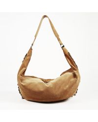 1402d57aa030 Lyst - The Row Sling 19 Suede Fringe Hobo Bag in Brown