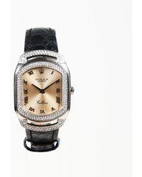 "Rolex - 18k White Gold Diamond ""cellini Cellissima"" Watch - Lyst"