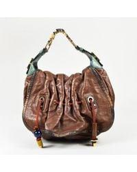 "Louis Vuitton - Brown ""masala Monogram Empreinte"" Leather ""epices Kalhar Gm"" Bag - Lyst"
