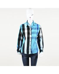 Burberry - Exploded Check Button Up Top - Lyst