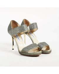 f1953d66cf1b Jimmy Choo - Light Bronze Glittered Leather