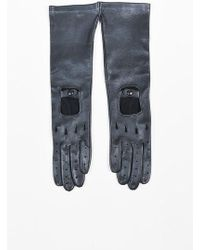 Marni | Black Deerskin Leather Long Perforated Driving Gloves | Lyst