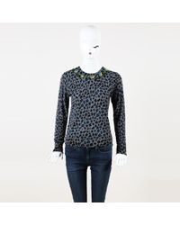 MUVEIL - Beaded Animal Print Wool Sweater - Lyst
