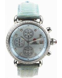 "Michele - ""csx Chronograph"" Lizard Strap Watch - Lyst"