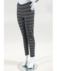 Alaïa - Black & White Knit Geometric Patterned Pants - Lyst