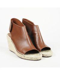 b3c1d533db2 Céline - Leather Espadrille Wedge Sandals - Lyst