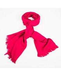 Hermès - Cashmere Silk Pink Scarf - Lyst