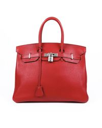 Hermès Birkin 35 Fjord Bag - Red
