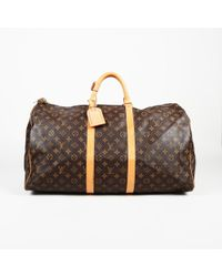"Louis Vuitton - Monogram Coated Canvas ""keepall 55"" Bag - Lyst"