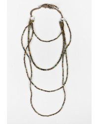 Brunello Cucinelli - Brown Multicolour Beads Long Layered Necklace - Lyst
