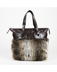 """Chanel - Faux Fur Quilted Leather """"fantasy Shopper"""" Tote - Lyst"""