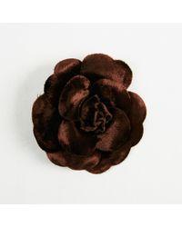 """Chanel - Vintage Brown Velvet """"camellia"""" Brooch - Lyst"""
