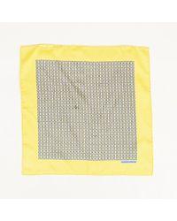 Hermès - Geometric Print Pocket Square - Lyst