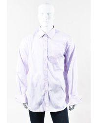 Paul Smith - Blue & Pink Cotton Striped Button Up Dress Shirt - Lyst