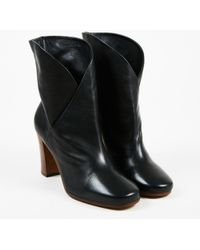 "Céline - Nwt Black Leather ""heritage"" Wrap Ankle Booties - Lyst"