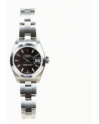 "Rolex - Stainless Steel ""oyster Perpetual Datejust"" Watch - Lyst"