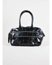 Dries Van Noten | Black Reptile Leather Holdall Shoulder Bag | Lyst