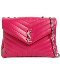 Saint Laurent - Small Lulu Monogram Quilted Leather Bag - Lyst