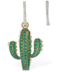 Apm Monaco - Asymmetric Arc-en-ciel Cactus Earrings - Lyst