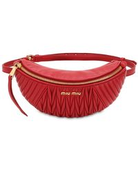 Miu Miu - Quilted Leather Belt Pack - Lyst