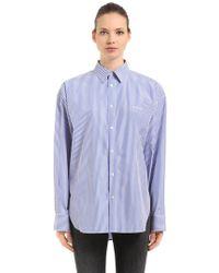 Balenciaga | Masculine Poplin Shirt W/ Micro Logo | Lyst