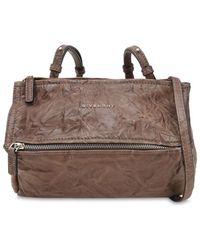 Givenchy - Mini Pandora Washed Leather Shoulder Bag - Lyst