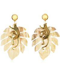 Oscar de la Renta - Small Jungle Horn Earrings - Lyst