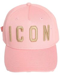 DSquared² - Icon Gabardine Baseball Hat - Lyst
