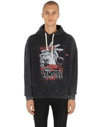 The Kooples - Bleached Horror Print Sweatshirt Hoodie - Lyst