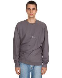 Off-White c/o Virgil Abloh - Twisted Vintage Cotton Sweatshirt - Lyst