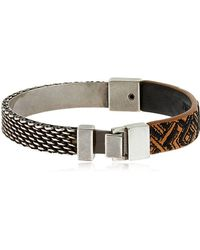 Northskull - Woto Embroidered Tag Bracelet - Lyst