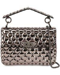 Valentino - Medium Spike Leather Shoulder Bag - Lyst