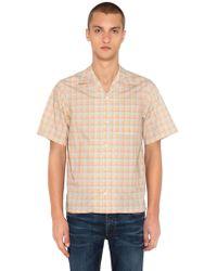 Prada - Kurzärmeliges Bowlinghemd Aus Baumwolle - Lyst