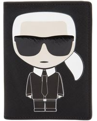 Karl Lagerfeld - K/ikonik Faux Leather Passport Holder - Lyst