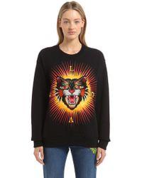 Gucci - Black Angry Cat 'modern Future' Sweatshirt - Lyst
