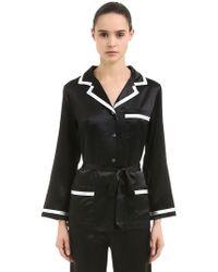 Loretta Caponi - Silk Satin Pyjama Set - Lyst