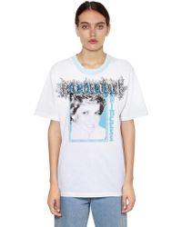 Off-White c/o Virgil Abloh - Oversize Lady Diana Print Jersey T-shirt - Lyst