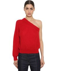 Nina Ricci - One Sleeve Mohair Blend Knit Sweater - Lyst