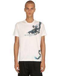 Givenchy - Cotton Printed Logo & Scorpio T-shirt - Lyst