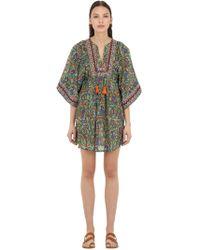 Tory Burch - Embroidered Cotton & Silk Blend Dress - Lyst