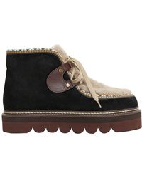 See By Chloé - 40mm Suede & Shearling Boots - Lyst