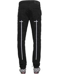 RTA - 16.5cm Skinny Crosses Print Denim Jeans - Lyst