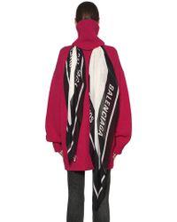 Balenciaga - Wool Turtleneck Jumper W/ Logo Scarf - Lyst