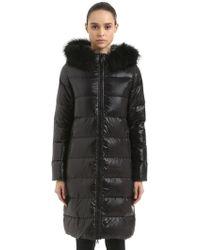 Duvetica - Alia Parka Down Coat W/ Fur Trim - Lyst