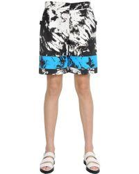 Alexander Wang - Bermuda In Nylon Stampa Tie Dye - Lyst